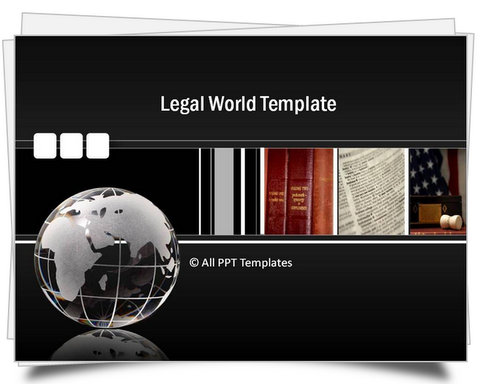 Powerpoint Legal World Template