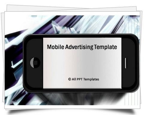 PowerPoint Mobile Advertising Template
