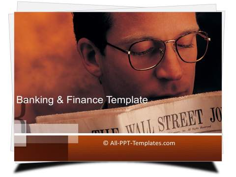 PowerPoint Financial Papers Template