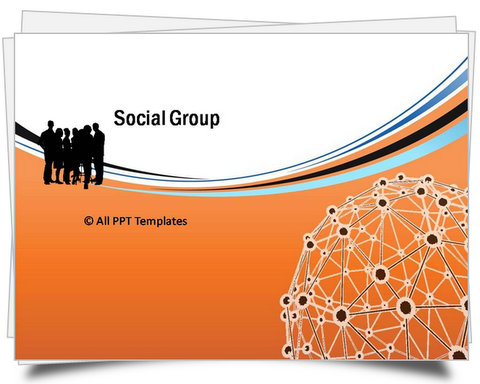 PowerPoint Orange Social Template