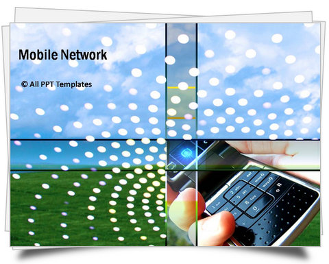 PowerPoint Mobile Network Template