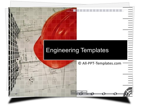 PowerPoint Construction Blueprint Template