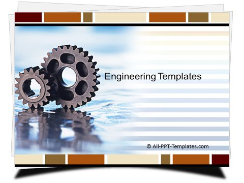 PowerPoint Engineering Gears Template