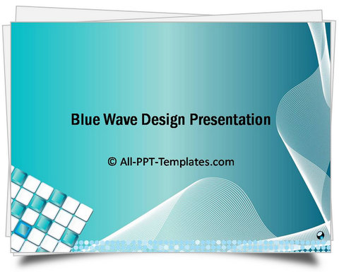 Powerpoint Blue Wave Intro Template