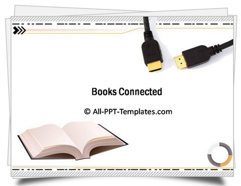 PowerPoint Books Connected Template