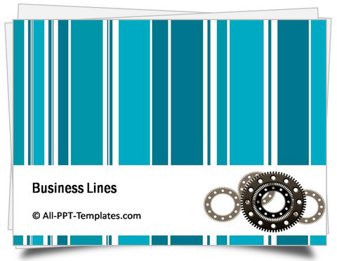 PowerPoint Business Lines Template