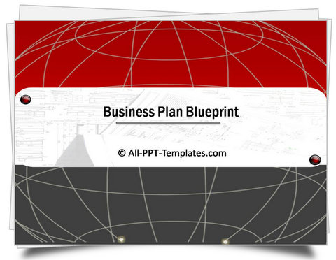 PowerPoint Business Plan Blueprint Template