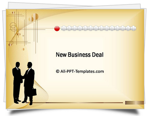 Powerpoint new business deal template powerpoint elegant crisscross template accmission Image collections