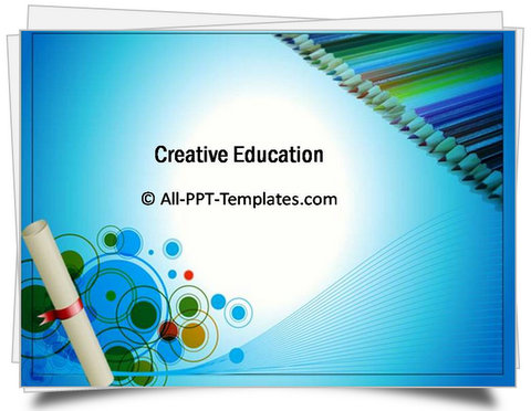 powerpoint creative education template, Powerpoint templates