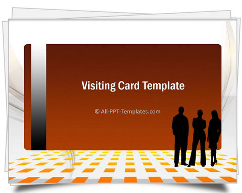 PowerPoint Gold Visiting Card Template  Profile Templates