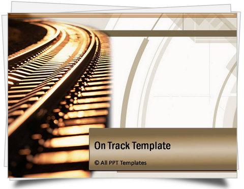 Powerpoint on track template toneelgroepblik Image collections