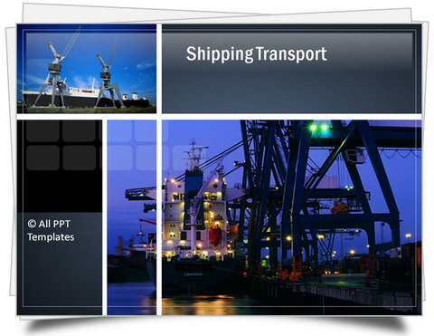 Powerpoint shipping transport template toneelgroepblik Image collections