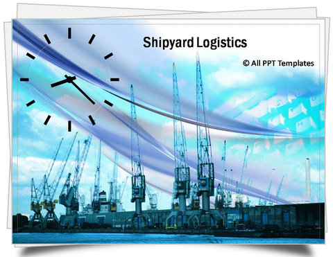 PowerPoint Shipyard Logistics Template