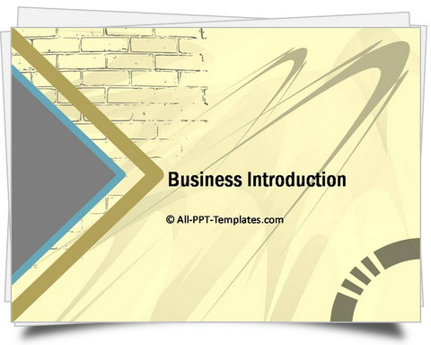 PowerPoint Wall Introduction Template