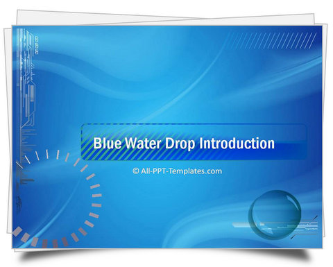 PowerPoint Water Drop Theme Template