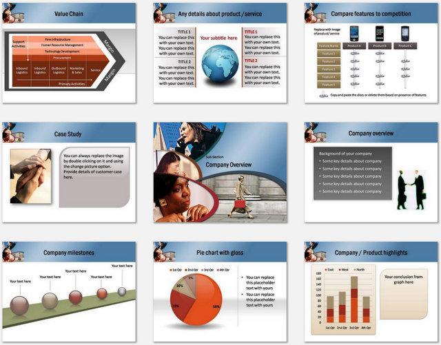 PowerPoint Women Market Charts 02