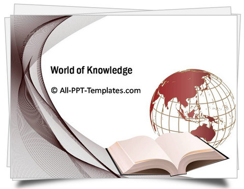 PowerPoint World of Knowledge Template