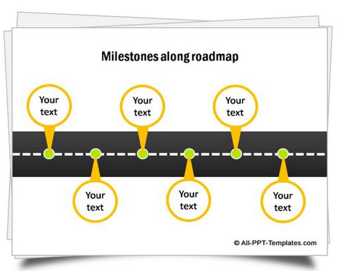 powerpoint road map template .