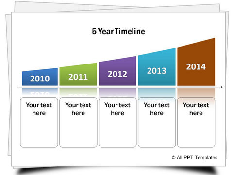 Powerpoint timeline continuous set for Milestone chart templates powerpoint