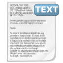 Text with Title Icon