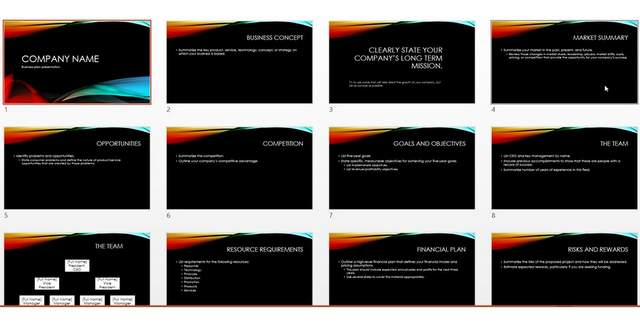 Vapor Trail PowerPoint Template