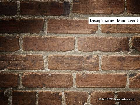 Hidden Wall Texture PowerPoint Design