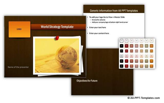 PowerPoint Strategy Template Sets to present business strategy and vision for corporate presentations. Part of All Inclusive Charts and Diagrams Pack for PowerPoint