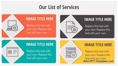 List of services Slide