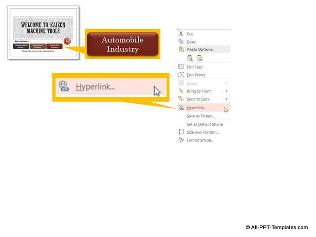 PowerPoint Hyperlink for Interactive Presentation