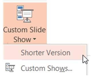 Accessing Custom Slideshows