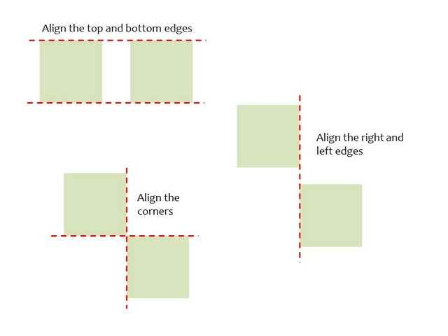 Alignment with Smart Guides