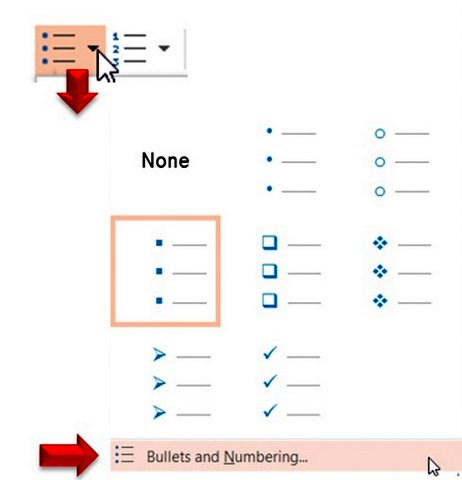 Changing PowerPoint Bullets