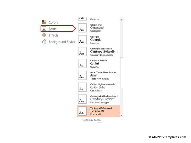 Changing PowerPoint Font Theme