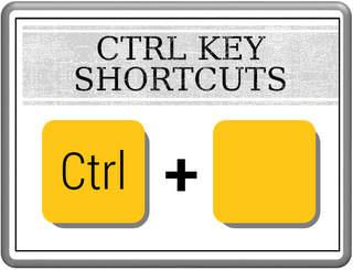 Control Key Shortcuts