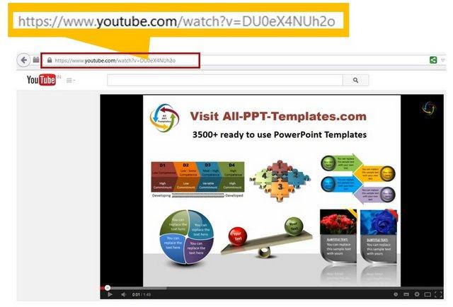 copy Youtube video Address