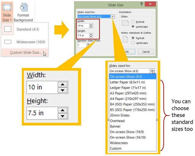 Custom Slide Size Tool In PowerPoint