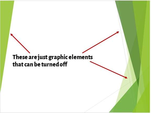 Graphic Elements in Slide Background