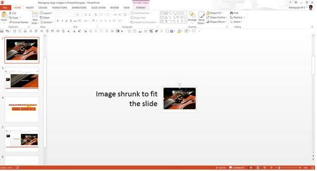 Image Shrunk to Fit Slide