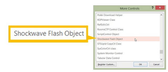 Insert Shockwave Flash Option