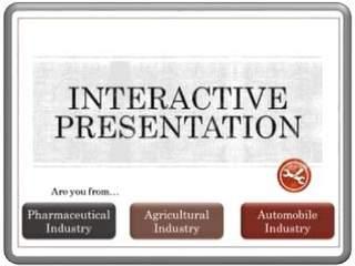 PowerPoint Interactive Presentations