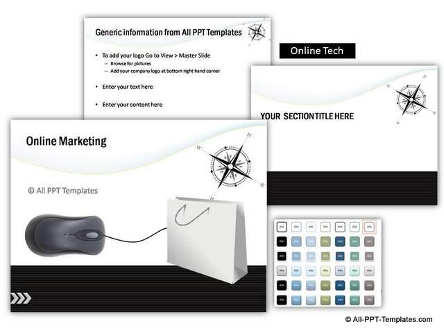 Online Marketing Themed PowerPoint Design set