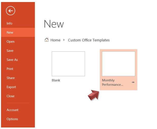 Open Custom Template