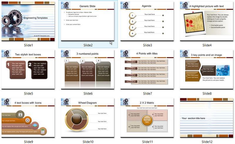 PowerPoint Engineering Gears Template 01