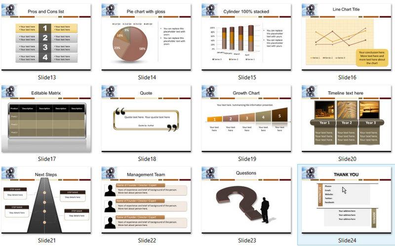 PowerPoint Engineering Gears Template 02
