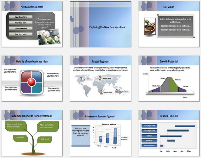 Powerpoint Business Discussion Charts 2