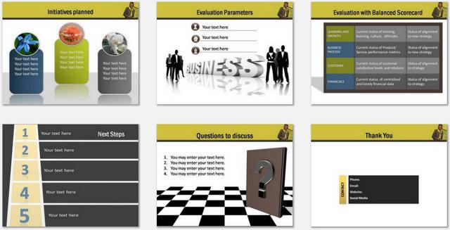 PowerPoint Business Goals Charts 03