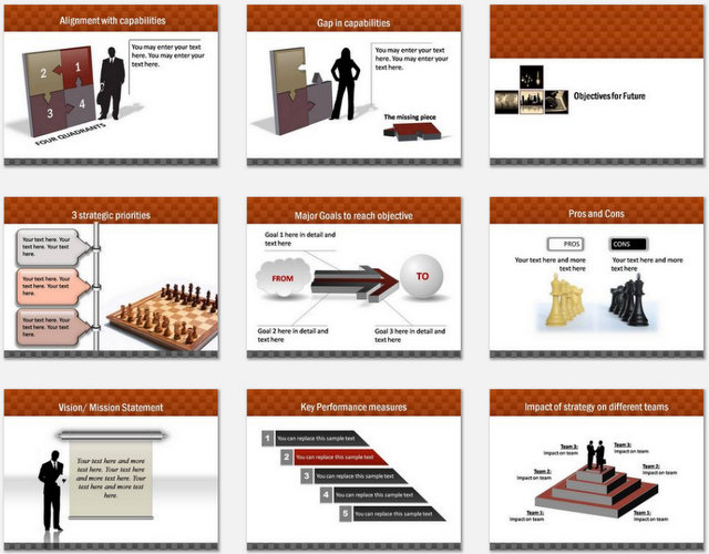 PowerPoint Business Highlights Charts 02