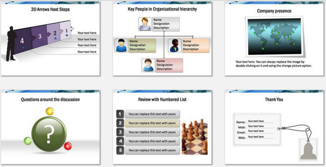 PowerPoint Business Introduction Charts 3
