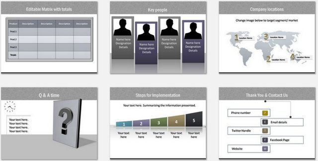 PowerPoint Calling Card Charts 03