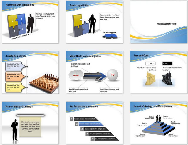 PowerPoint Chess Metaphor Charts 02
